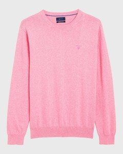 Gant Lightweight Cotton Round-Neck Lichtroze Melange
