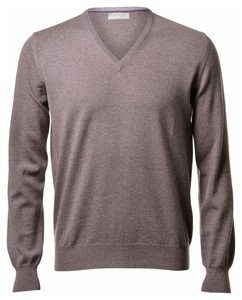Gran Sasso Extrafine Merino V-Neck Fashion Hazel