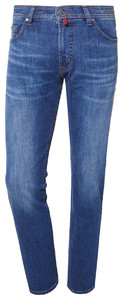 Pierre Cardin Deauville Jeans Used Washed Donker Blauw Melange