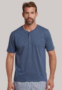 Schiesser Mix & Relax Cotton T-Shirt Knoopjes Indigo