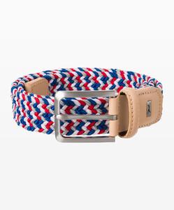 Brax Muticolor Woven Belt Rood-Navy