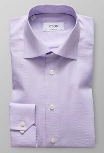 Eton Diamond Weave Cutaway Paars Melange