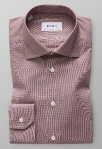Eton Dobby Cotton-Tencel Rijk Roze