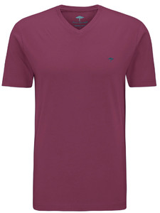Fynch-Hatton V-Neck T-Shirt Berry