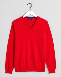 Gant Classic Cotton V-Neck Rood