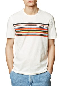 Maerz Multi Striped Logo Off White