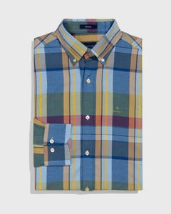 Gant Oxford Madras Lake Blue