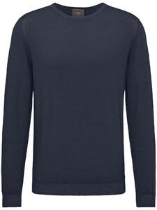 Fynch-Hatton O-Neck Garment Dyed Navy