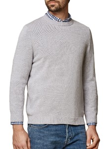 Maerz Pullover Cotton R-Neck Stone Grey