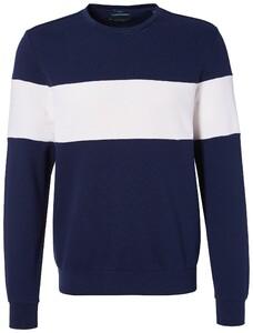Pierre Cardin Sweatshirt French Terry Denim Academy Navy Blue Melange
