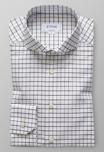 Eton Super Slim Check Zwart