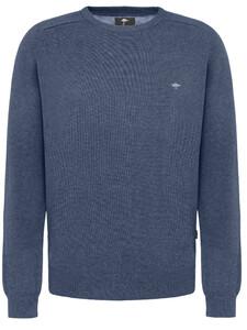 Fynch-Hatton O-Neck Cotton Denim Blue