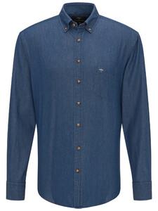 Fynch-Hatton Denim Button Down Blauw