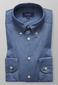 Eton Slim Lightweight Denim Avond Blauw