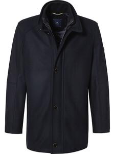 Pierre Cardin Wool Coat Navy