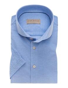 John Miller Short Sleeve Cutaway Midden Blauw