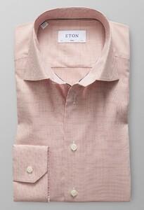 Eton Fine Checked Twill Redpink