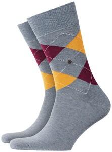 Burlington King Socks Blauw Melange