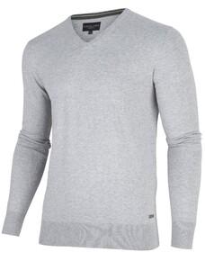 Cavallaro Napoli Tomasso V-Neck Pullover Midden Grijs
