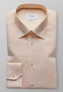 Eton Slim Sleeve 7 Royal Dobby Licht Oranje Melange