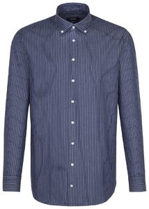 Seidensticker Twill Stripe New Button Down Navy