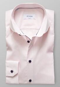 Eton Duo Fine Striped Poplin Roze