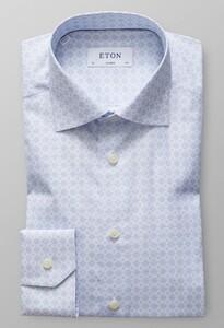 Eton Medallion Poplin Diep Blauw