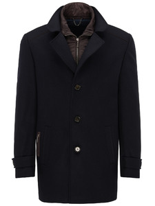 Fynch-Hatton Overjacket Wool Mix Navy