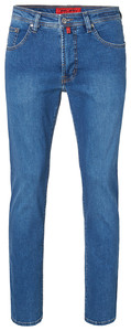 Pierre Cardin Deauville Tapered Jeans Stone Used Blauw Melange
