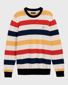 Gant Multi Colored Stripe Crew Red Orange