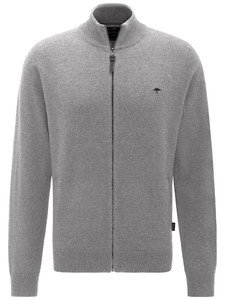 Fynch-Hatton Cardigan Zip Elbow Patches Cloudy