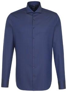 Seidensticker Tailored Subtle Contrast Blauw
