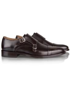 Cavallaro Napoli Graziano Shoe Dark Brown Melange