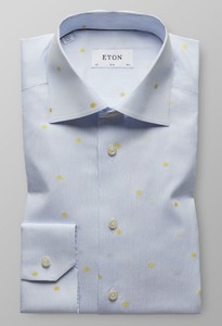 Eton Tennis Ball Shirt Licht Blauw