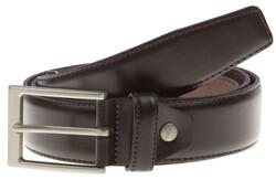 Lindenmann Basic Plain Belt Donker Bruin