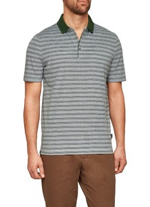 Maerz Striped Polo Nephrit Green