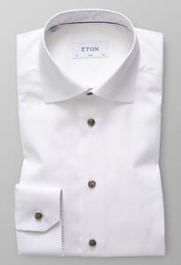 Eton Uni Paisley Contrast White