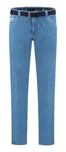 Com4 Wing-Front Denim Jeans Licht Blauw