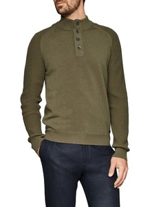 Maerz Buttoned Pullover Camouflage Green