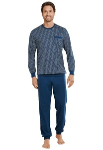 Schiesser Original Classics Pyjama Lang Dark Evening Blue