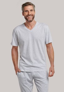 Schiesser Mix & Relax T-Shirt V-Hals Grey