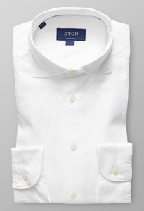 Eton Uni Cotton-Tencel Wit