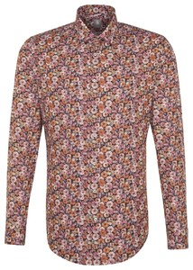 Jacques Britt Slim Floral Poplin Red