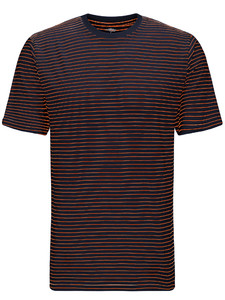 Fynch-Hatton T-Shirt Finestripe Navy-African Sun