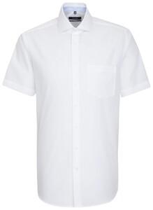 Seidensticker Short Sleeve Spread Kent Wit