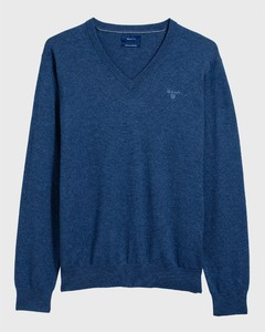 Gant Cotton V-Neck Indigoblue Melange