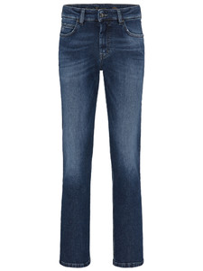 Fynch-Hatton Mombasa All-Season Authentic Denim Midden Blauw