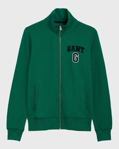 Gant Graphic Full Zip Cardigan Bladgroen