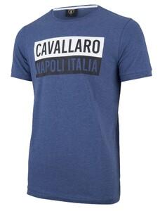 Cavallaro Napoli Augusto Tee Midden Blauw