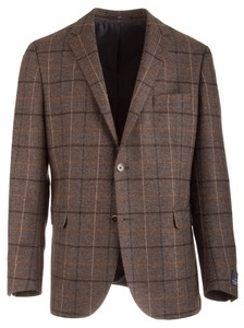 EDUARD DRESSLER Sean Shaped Fit Fine Tweed Check Bruin